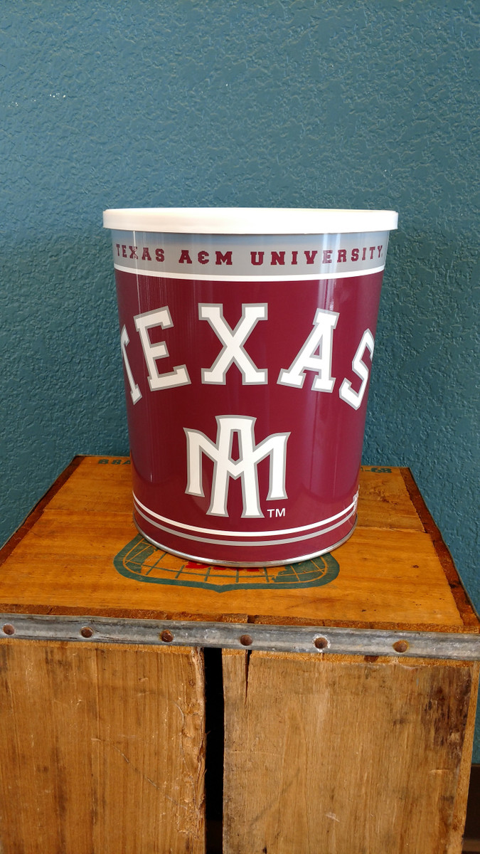 Texas A&M 1 Gallon Popcorn Tin