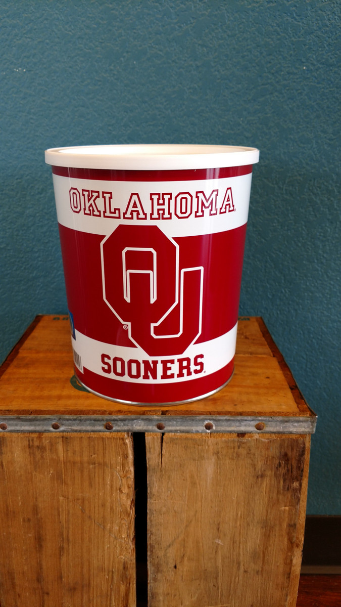 OU Sooners 1 Gallon Popcorn Tin