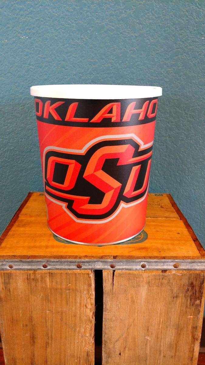 Oklahoma State 1 Gallon Popcorn Tin