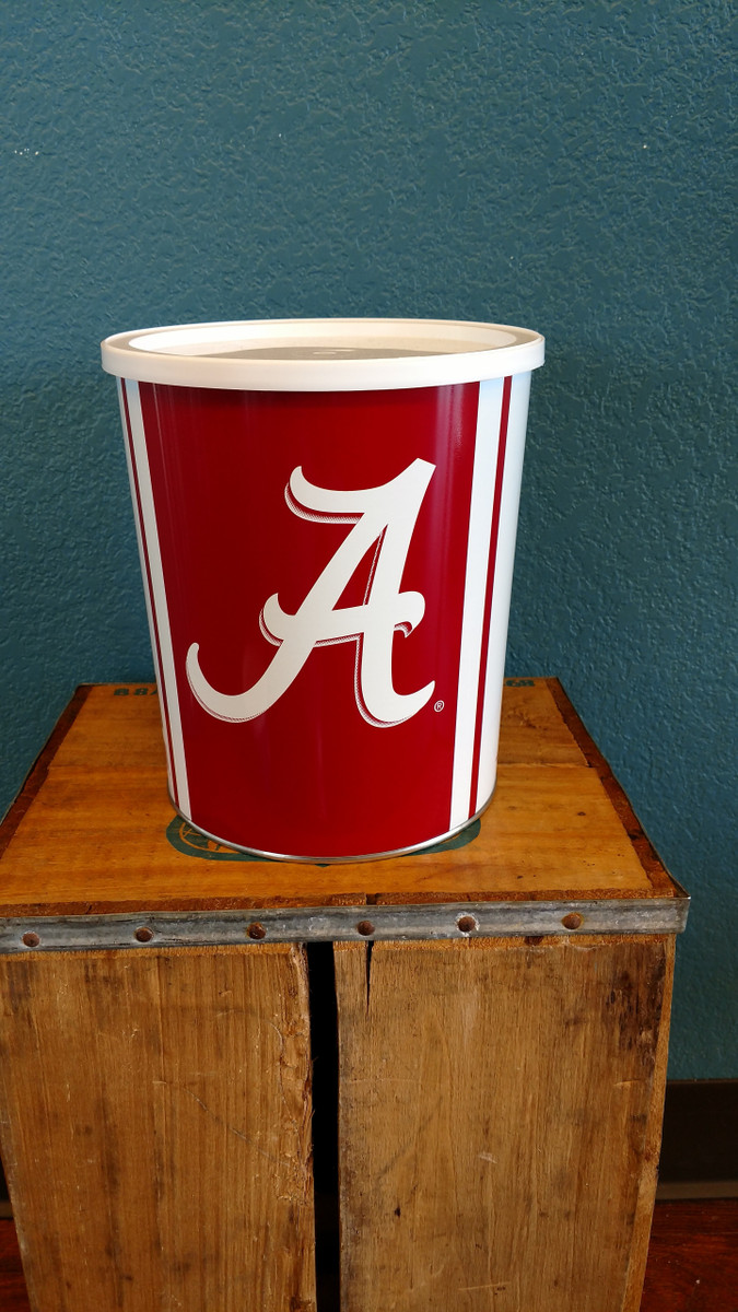 Alabama University 1 Gallon Popcorn Tin
