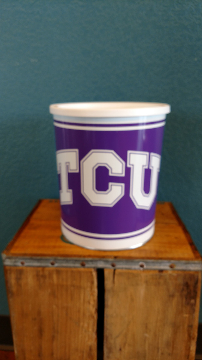 TCU 1 Gallon Popcorn Tin