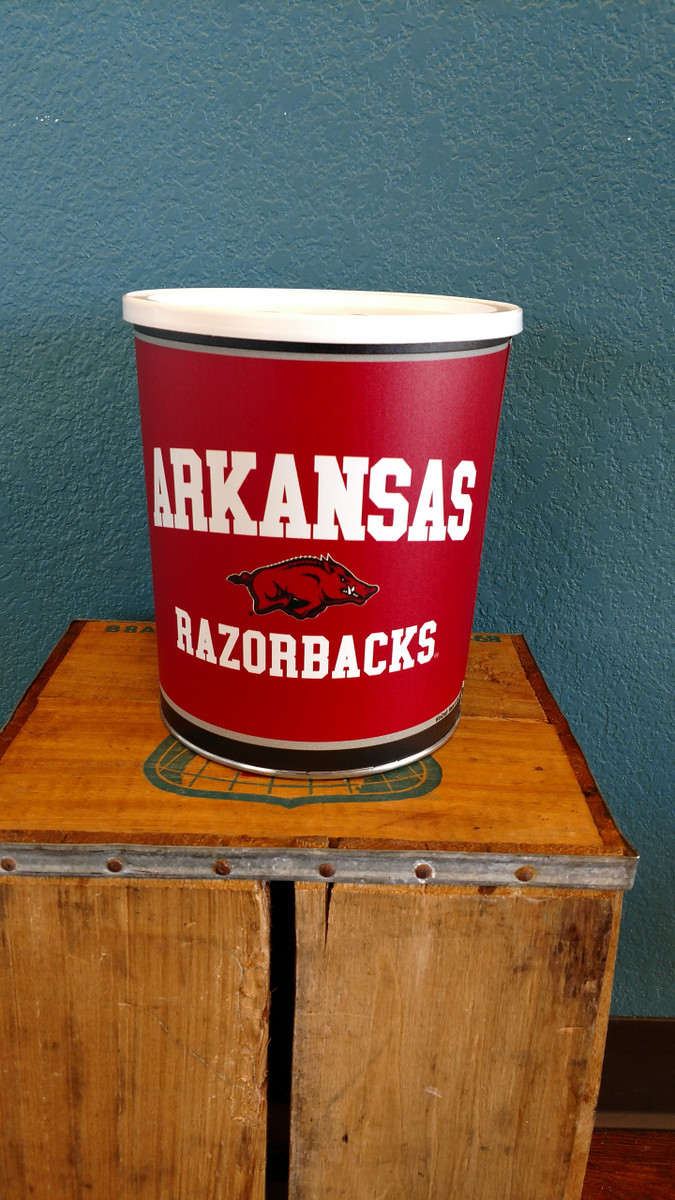 Arkansas Gallon Popcorn TIn
