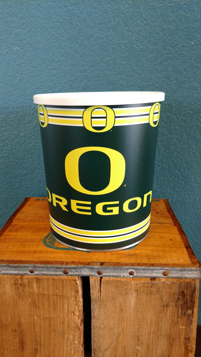 Oregon University Gallon Popcorn Tin