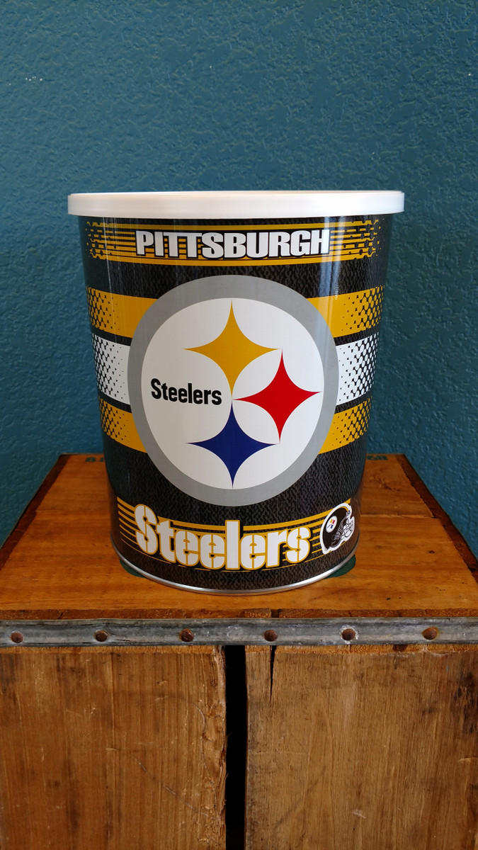 Pittsburg Steelers 1 Gallon Popcorn Tin