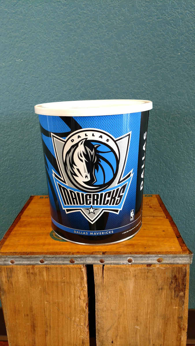 Dallas Mavericks 1 Gallon Popcorn Tin