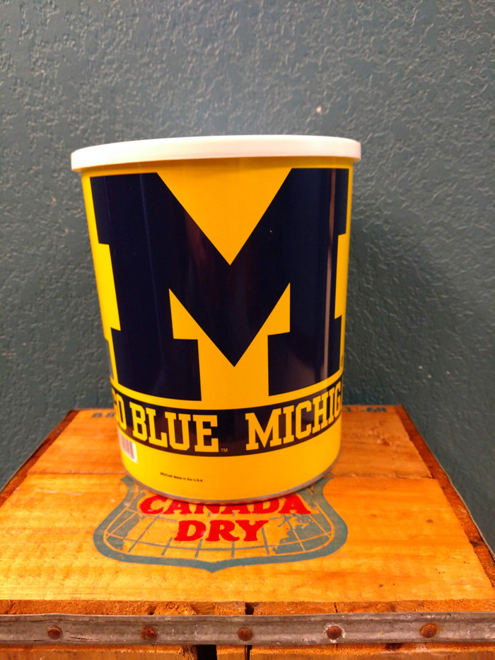 Michigan One Gallon Popcorn TIn