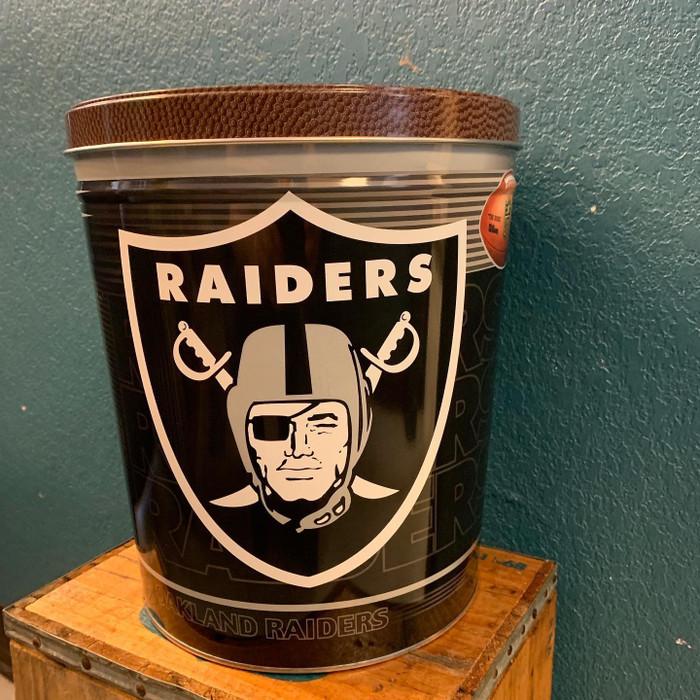 The Raiders 3 Gallon Popcorn Tin