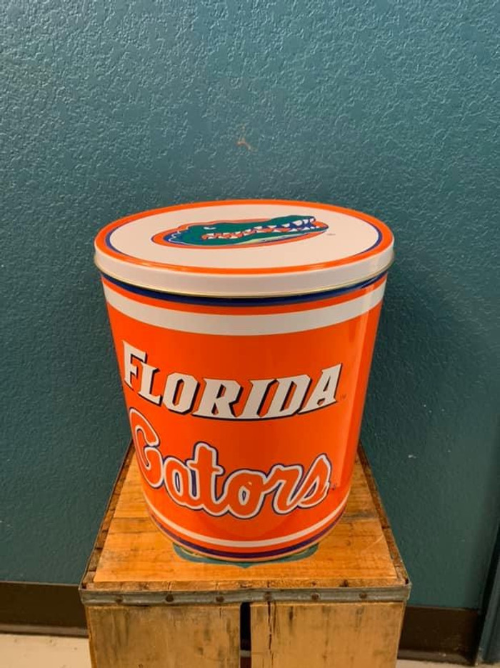 Florida Gators 3 Gallon Popcorn Tin