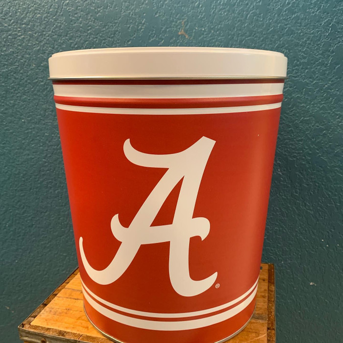 Alabama University 3 Gallon Popcorn Tin