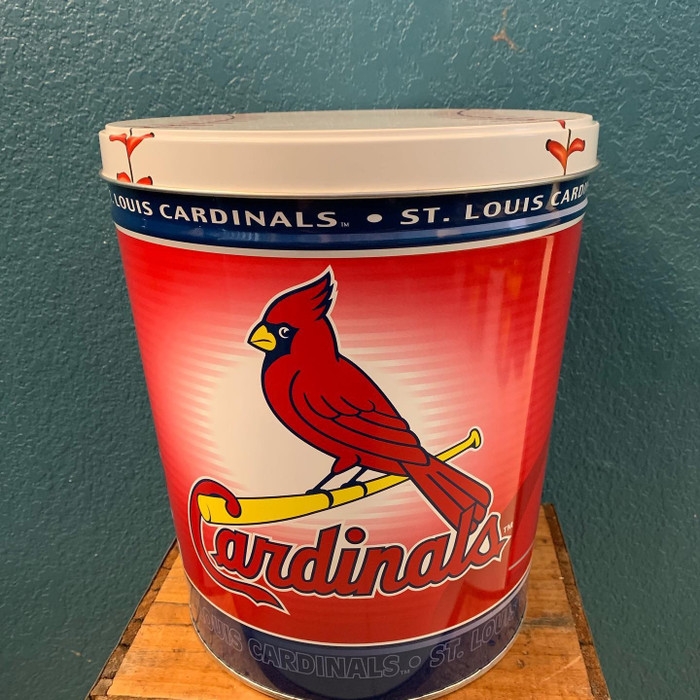 St. Louis Cardinals 3 Gallon Popcorn Tin