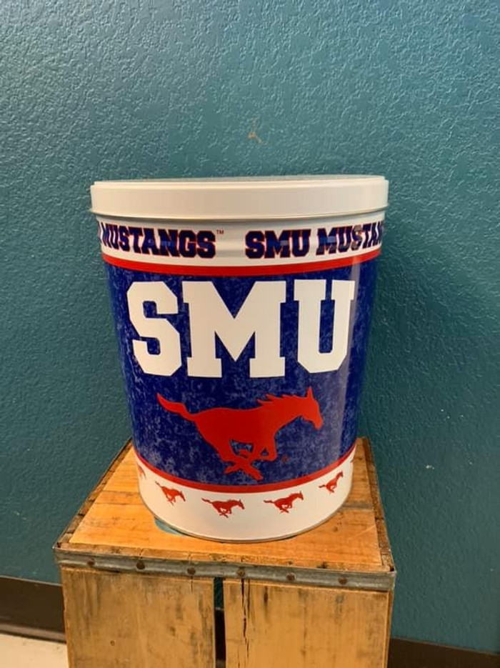 SMU 3 Gallon Popcorn Tin