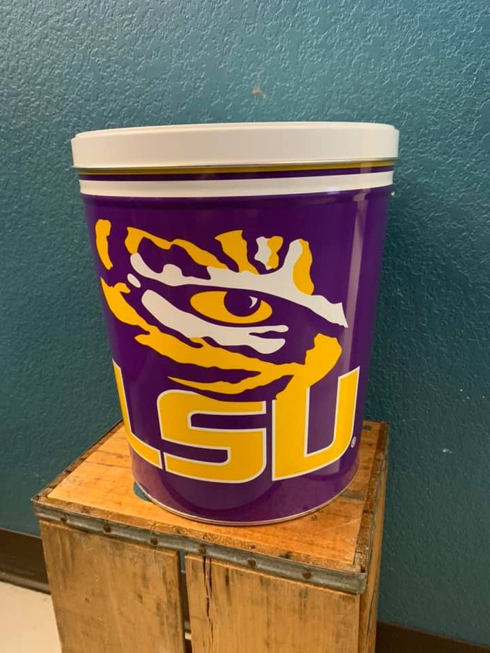 LSU Tigers 3 Gallon Popcorn Tin