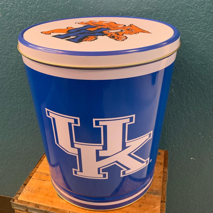 University Kentucky 3 Gallon Popcorn Tin