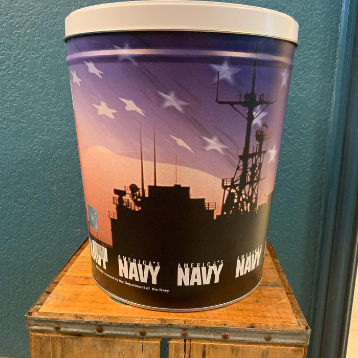 NAVY 3 Gallon Popcorn Tin