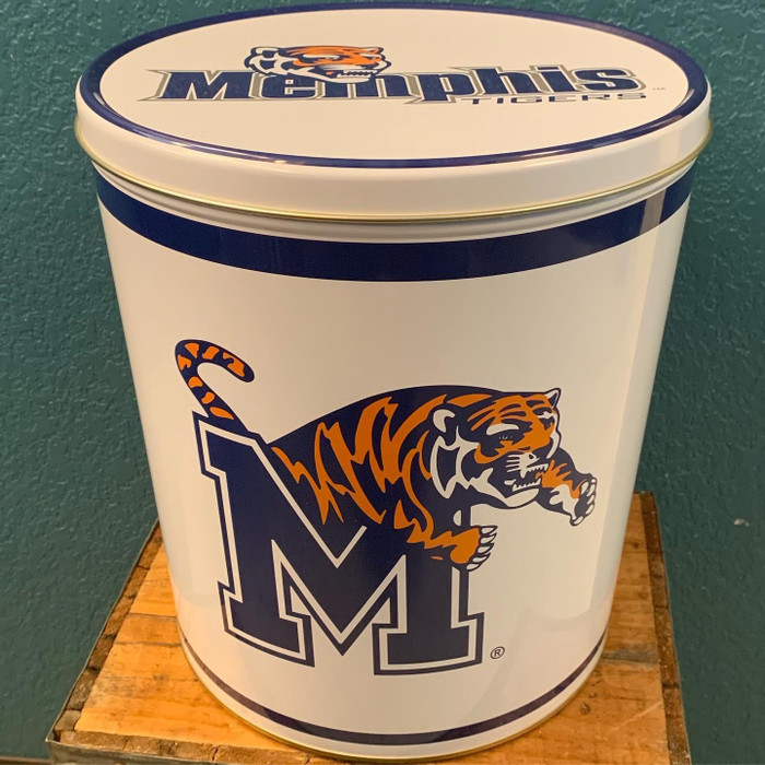 Memphis Tigers 3 Gallon Popcorn Tin