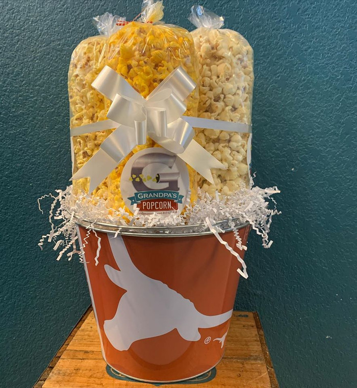 Texas Longhorns Bucket with Butter, Cheese & Caramel