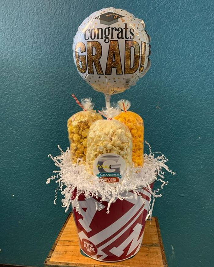 Texas A&M Aggies Bucket with Butter, Cheese & Caramel