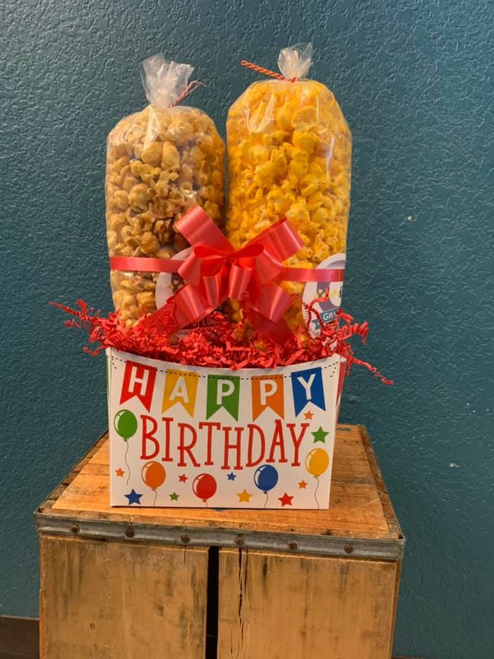 Happy Birthday Box w/ Cheese & Caramel