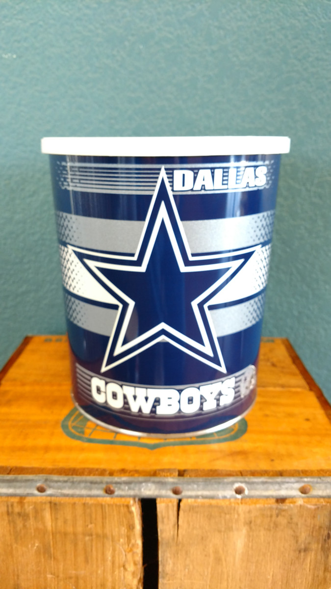 Dallas Cowboy One Gallon Popcorn Tin