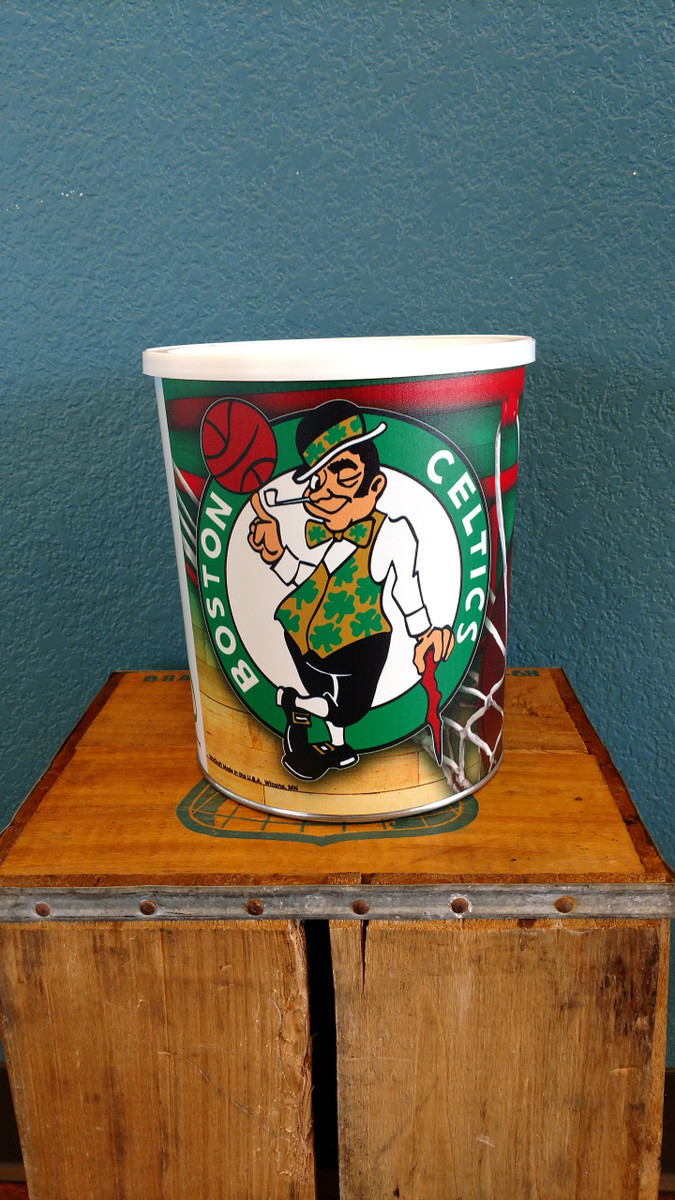 Boston Celtics One Gallon Popcorn Tin