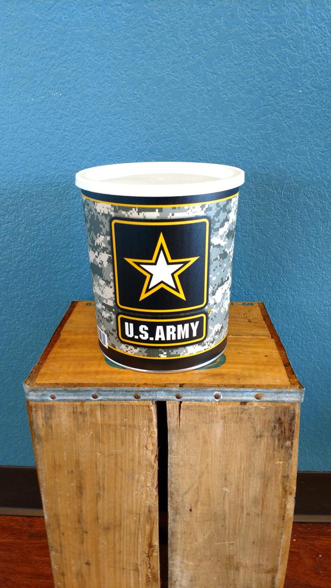 Army One Gallon Popcorn Tin