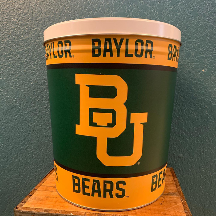 Baylor Bears 3 Gallon Popcorn TIn