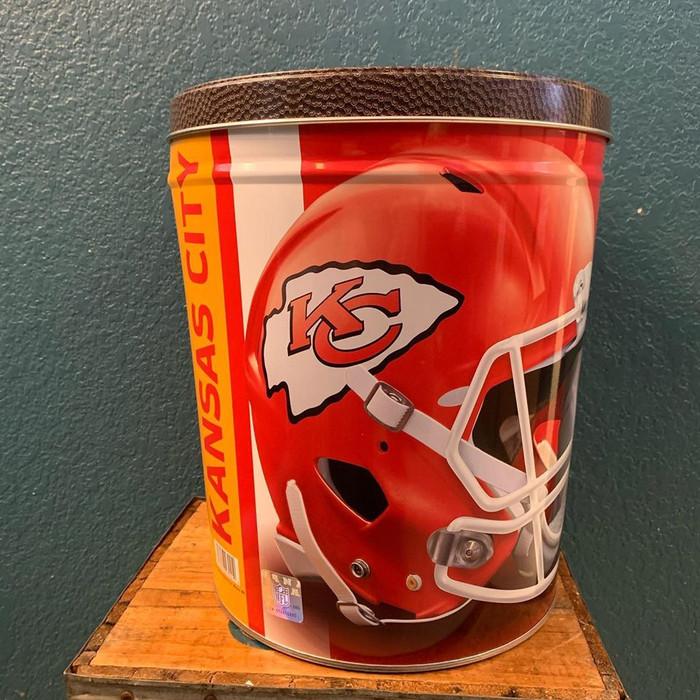 Kansas City Chiefs 3 gallon Popcorn Tin