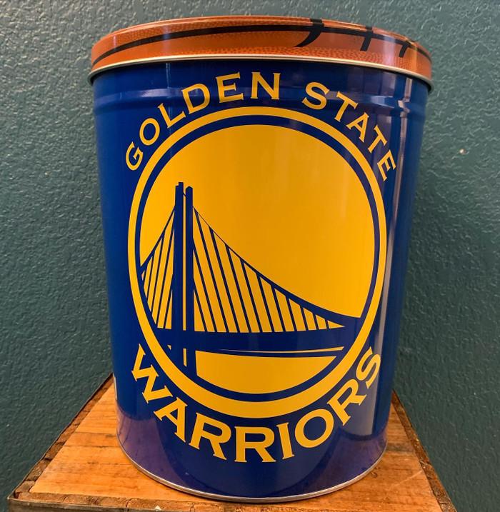 Golden State Warriors 3 Gallon Popcorn TIn