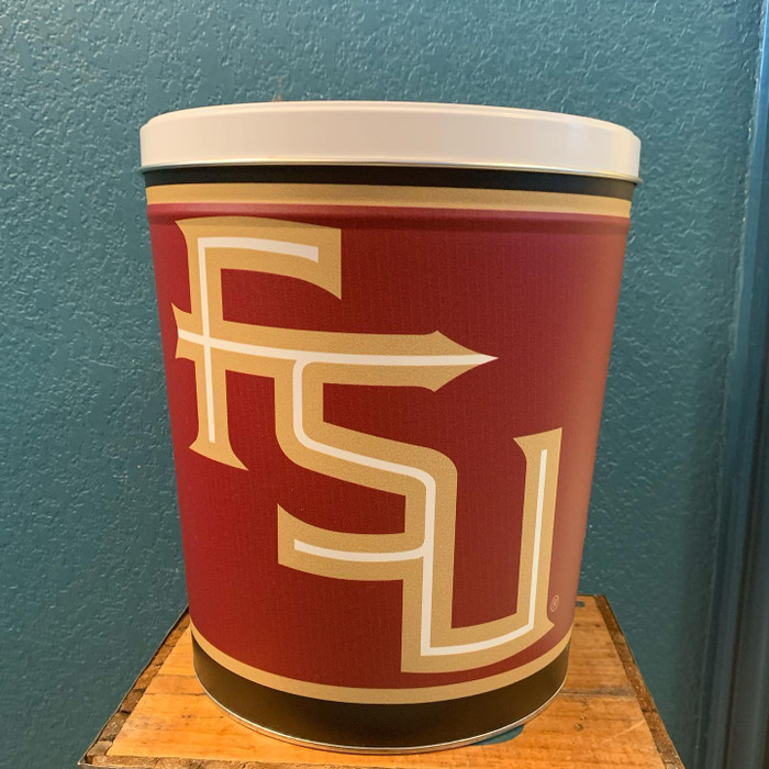 Florida St Seminoles 3 Gallon Popcorn Tin