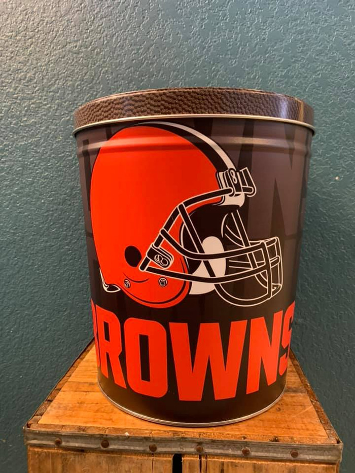 Cleveland Browns 3 Gallon Popcorn Tin