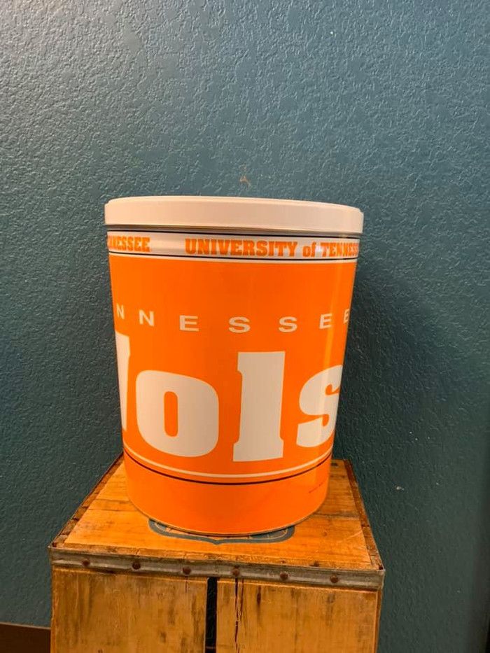 Tennessee Volunteers 3 Gallon Popcorn Tin