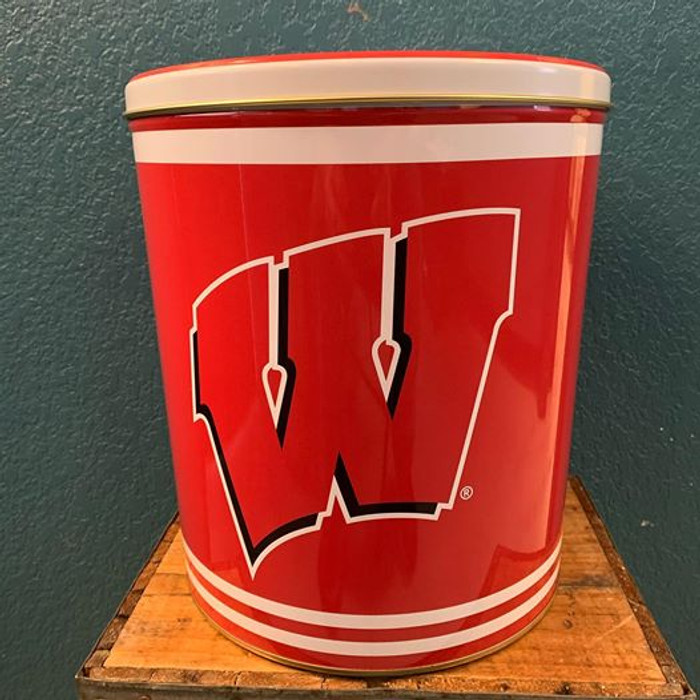 Wisconsin Badgers 3 Gallon Popcorn Tin