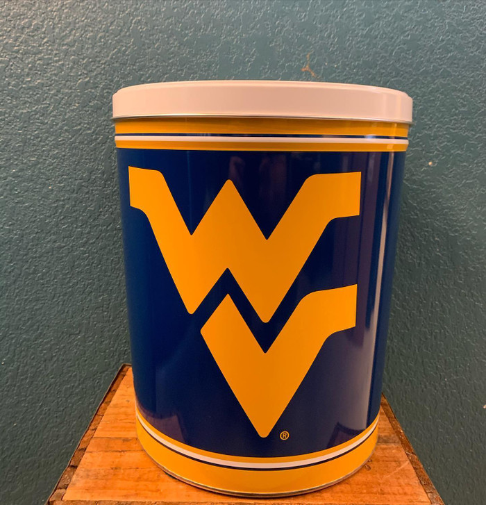 West Virginia Mountaineers 3 Gallon Popcorn Tin