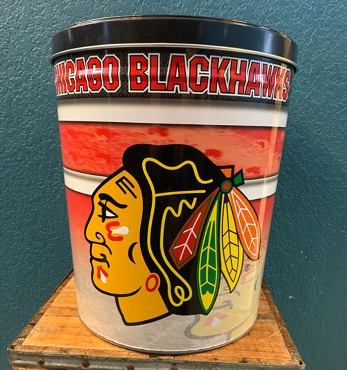 Chicago Black Hawks  3 Gallon Popcorn Tin