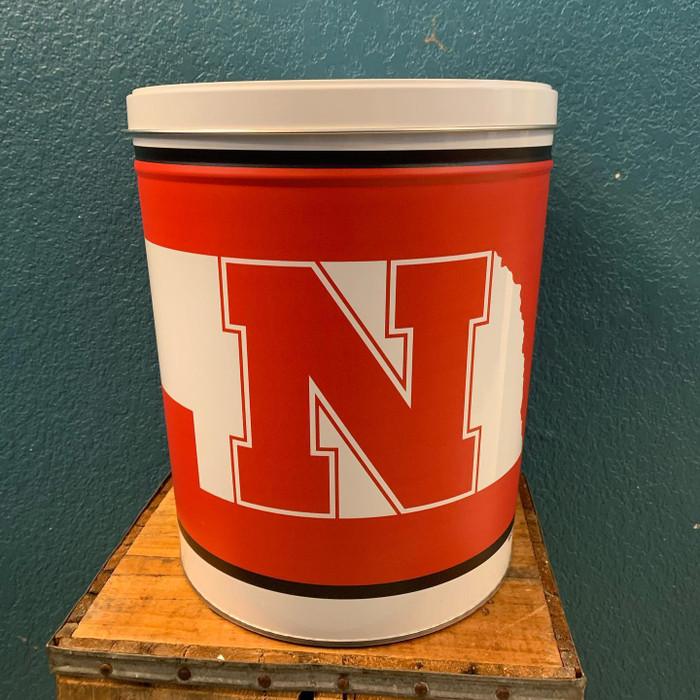 Nebraska Cornhuskers 3 Gallon Popcorn Tin