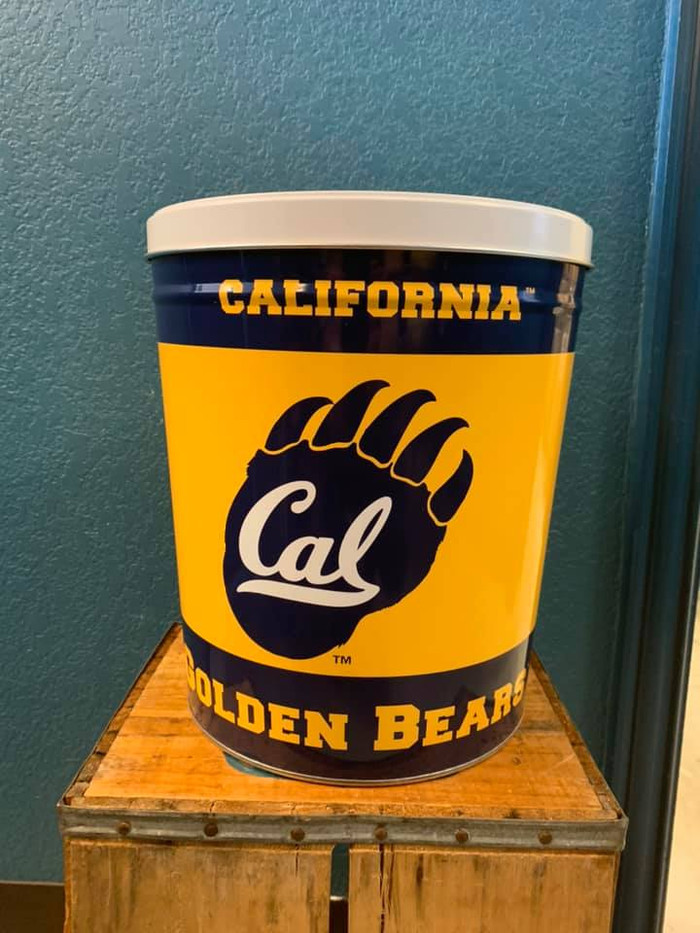 University of California Bears 3 Gallon Popcorn Tin