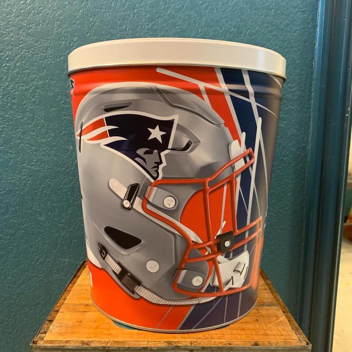New England Patriots 3 Gallon Popcorn Tins