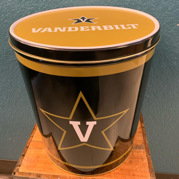 Vanderbilt Commodores 3 Gallon Popcorn TIn