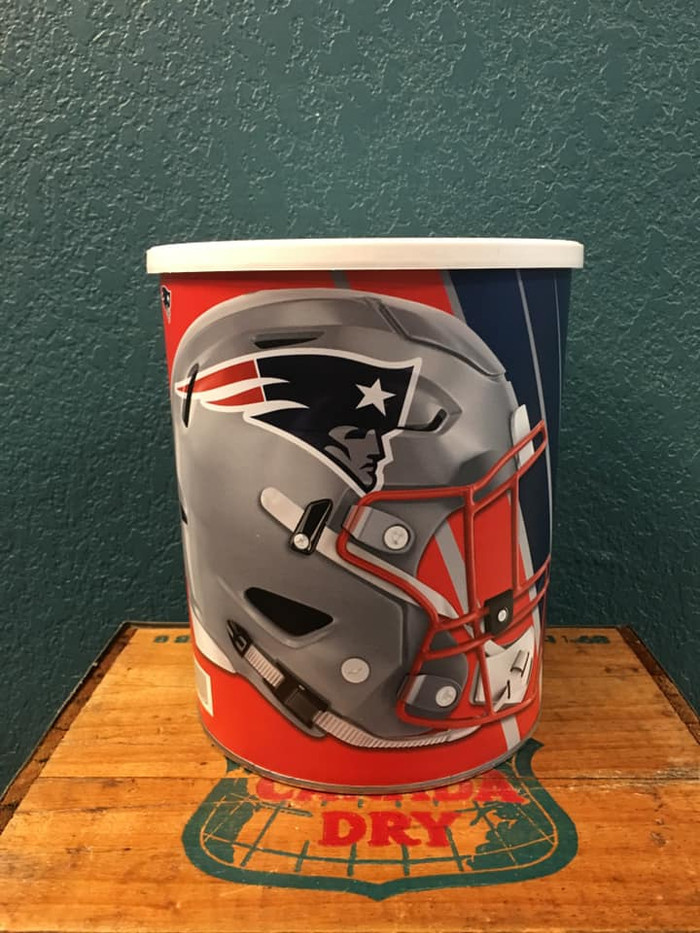 New England Patriots One Gallon Popcorn Tin