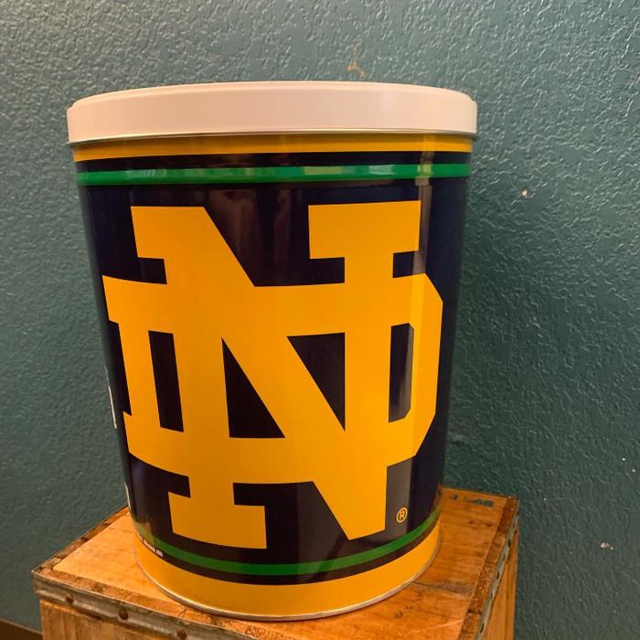 Notre Dame University 3 Gallon Popcorn Tins