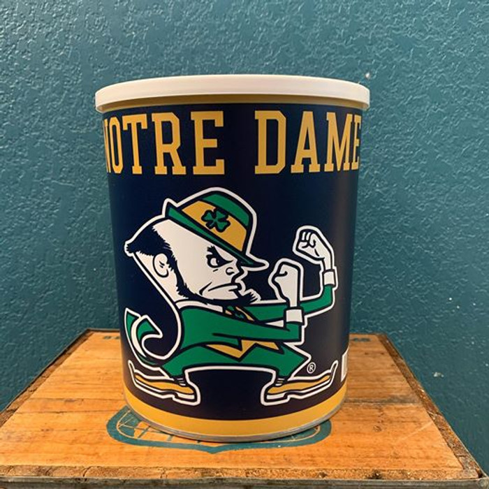 Notre Dame University One Gallon Popcorn TIn
