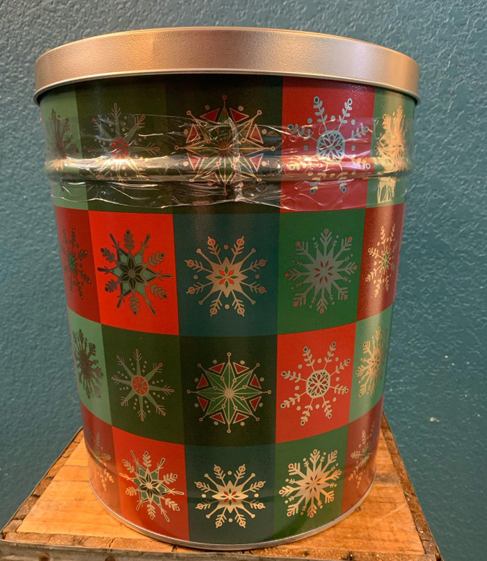 Holiday 3.5 Gallon Popcorn Tin