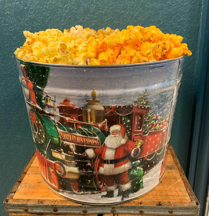 Santa Express 2 Gallon Popcorn Tin