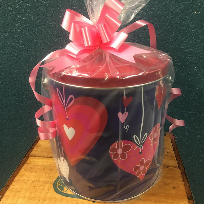 Valentine One Gallon Popcorn TIn