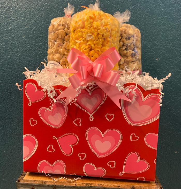 Valentine Heart Box (Small Zebra, Small Caramel, & Small Cheese)