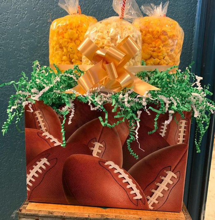Football Box with Small Cheese, Kettle and Extra Cheesy