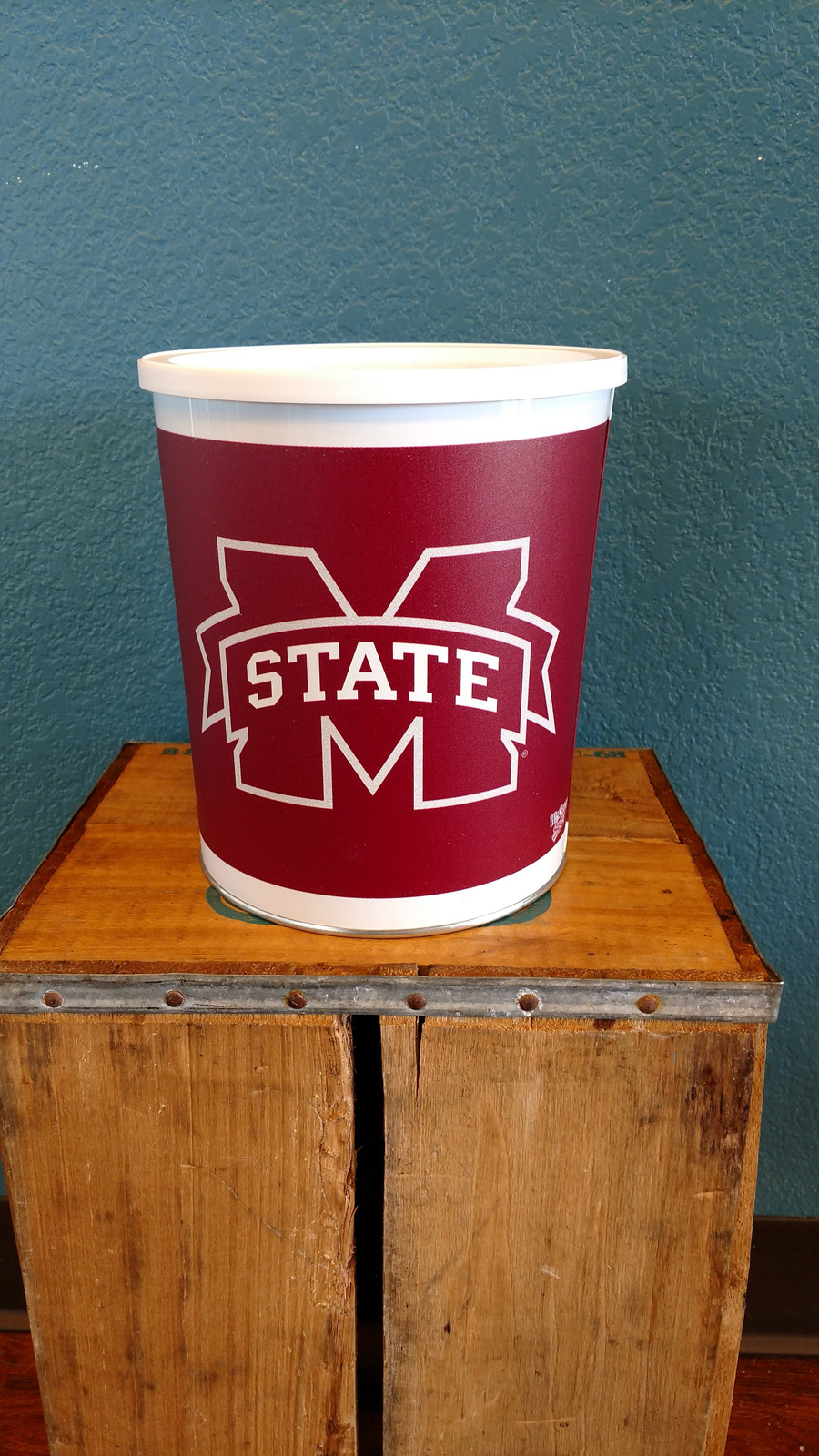 Mississippi State Gallon Popcorn TIn