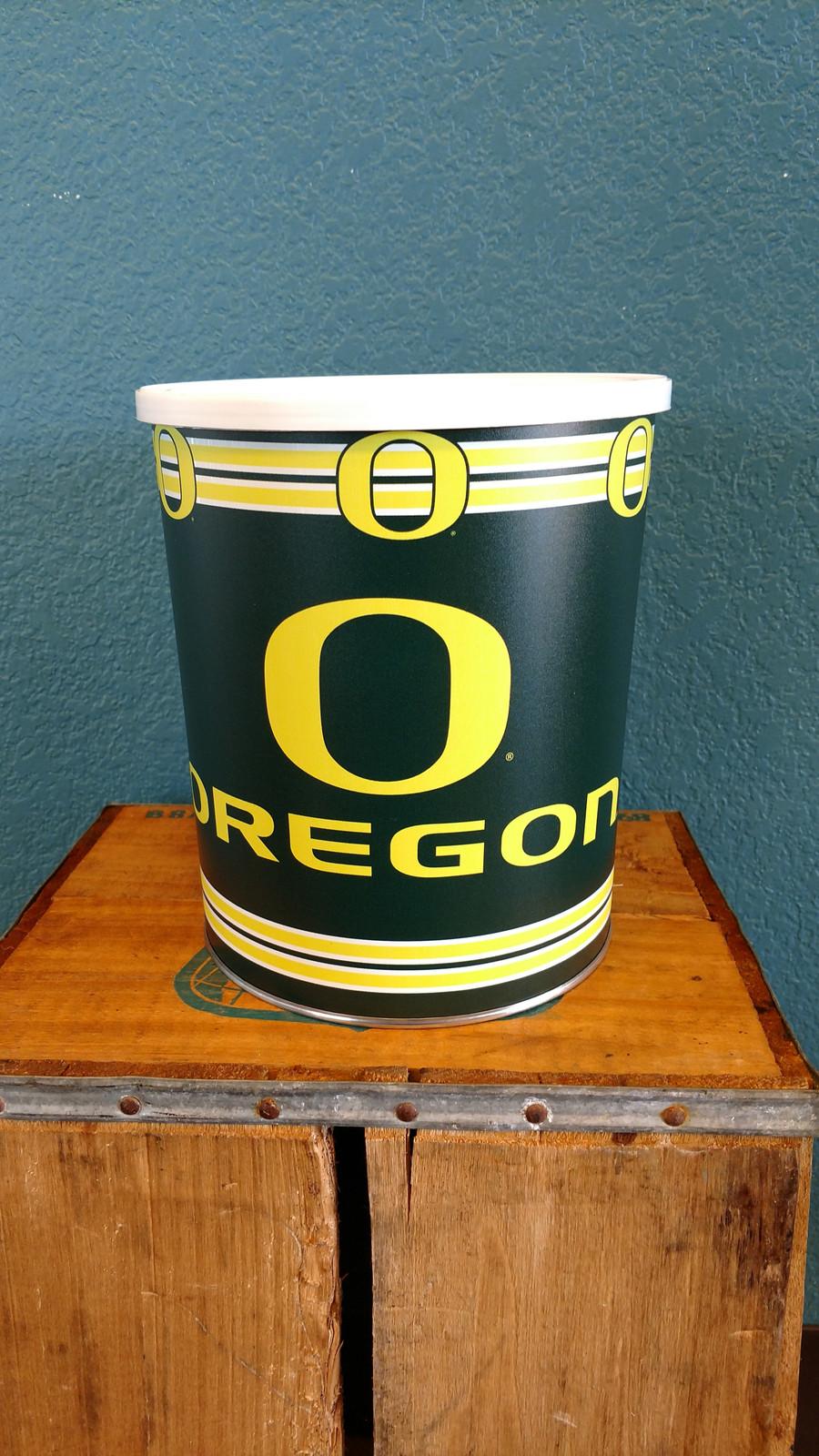 Oregon University Gallon Popcorn Tin