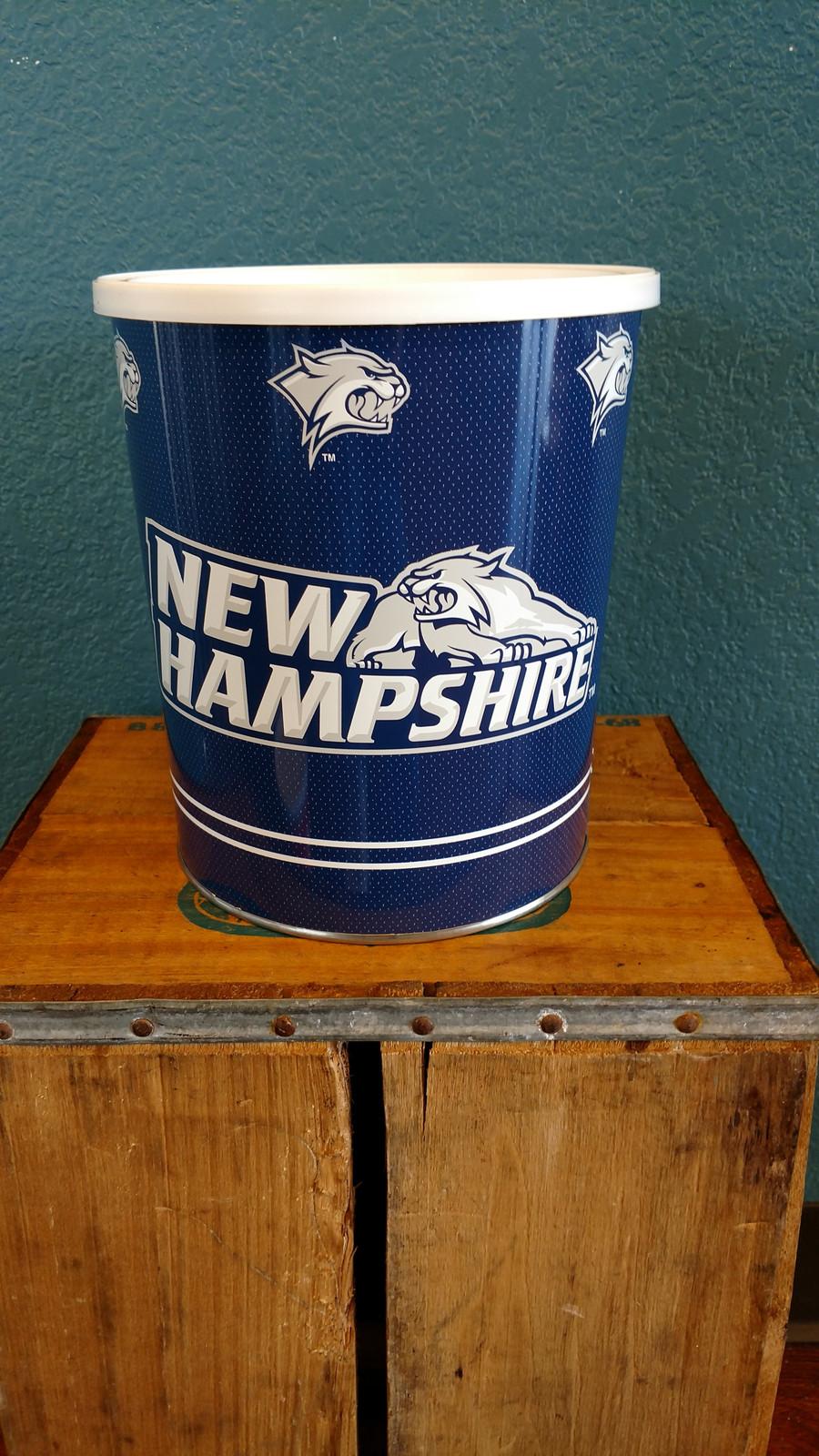 New Hampshire 1 Gallon Popcorn TIn