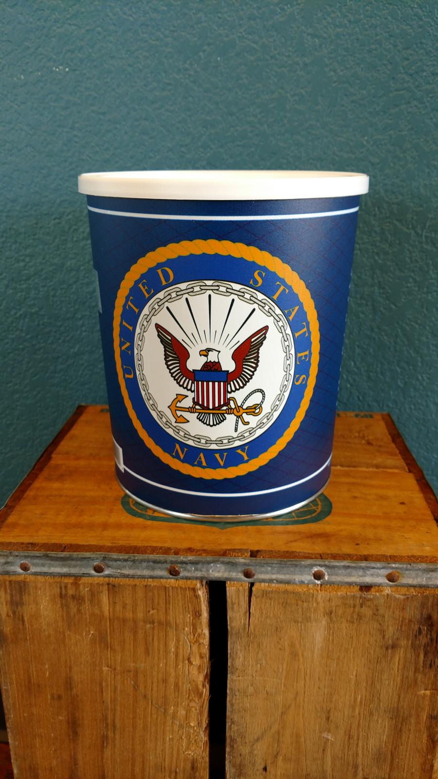 Navy 1 Gallon Popcorn Tin